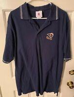 St Louis Rams Polo Shirt Mens Large NFL Football Los Angeles LA Cotton Golf Guys