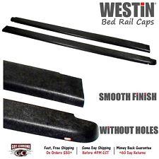 "72-40115 Westin Black Bed Rail Caps GMC Sierra 5'8"" Bed 2007-2013"