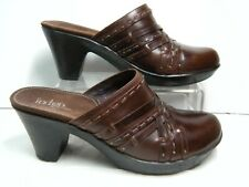 Indigo by Clarks Womens Shoes / Mules 82632 Size 8 M Brown Leather Slip on # Y