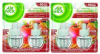 (Pack of 2) Air Wick APPLE CINNAMON MEDLEY w/ Essential Oils Scented Oil Refill