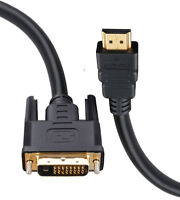 2m HDMI to DVI D Dual Link Digital Video Cable Lead for PC LCD HD TV 6ft GOLD