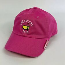 Masters Augusta Golf Ladies Performance Caddy Hat Cap Adjustable Pink EUC
