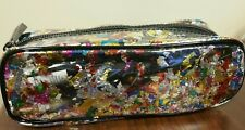 "SEPHORA COLLECTION Lets Disco Confetti Clear Fun Cosmetic Travel Bag 7"" X 3.5"""