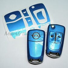 1O_arredamento chiave Opel Corsa D,Astra H,Zafira B,Vectra blu metallizzato