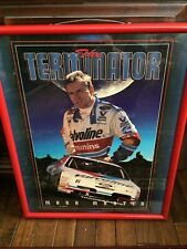 Vintage Lg '95 Mark Martin 'The Terminator' Framed Portrait Costacos Bros Print