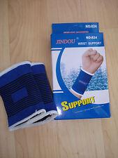 Ragazzi Giovani Junior 2 X Supporto Polso Manica Elastica Sport CONTROVENTO Blue NUOVO con confezione
