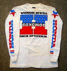 Vintage 80's WHEELIE KING DOMOKOS TEAM HONDA JERSEY Motocross Jersey HRC