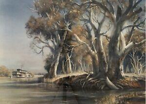 "Kenneth Jack AM (Aust 1924 – 2006) Ltd Ed Collotype Print ""Along The River Murra"