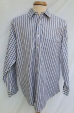 Brooks Brothers Non-iron Purple Striped  All Cotton Size 16.5 LS 4/5 C11