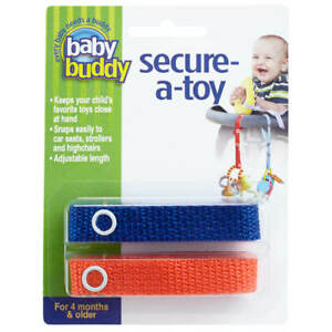 Baby Buddy Secure A Toy Safety Strap Secures Toys Teether to Stroller