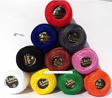 10 Anchor balls Embroidery Pearl Cotton. No.8, most demanding vibrant Colours