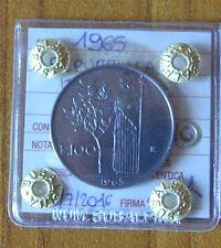 REPUBBLICA ITALIANA 100 LIRE 1965 SIGILLATA qFDC numismatica SUBALPINA