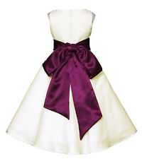 US SELLER Ivory A-Line Wedding Pageant Flower Girl Dress 12 Month - 18 Years Old