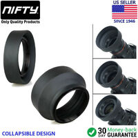 58mm 3-in-1 Collapsible Rubber Lens Hood for Nikon Canon Sony Sigma Lenses