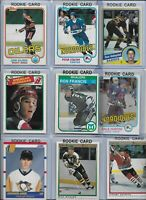 Vintage NHL Rookie Lot (9) Francis Shanahan Kurri Stastny Jagr Hunter HOF NMINT