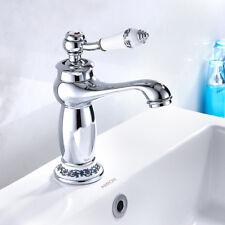 Victorian Traditional Basin Mixer Taps Chrome Mono Luxury Bathroom Cloakroom Tap