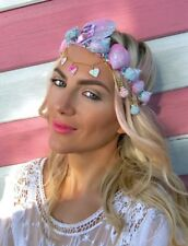 Pink Blue Diamond Sea Shell Crown Mermaid Hair Head Band Choochie Boho Beach