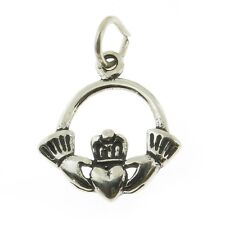 925 Sterling Silver Claddaugh Irish Love Ring Charm Made in USA