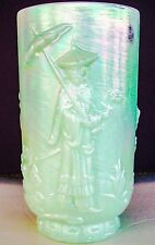 "FENTON GLASS SEA GREEN MANDARIN 9 1/2"" VASE # 8251 GE MIB"