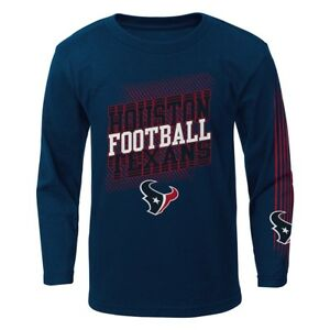 """Houston Texans Outerstuff NFL Boys Navy Blue """"Frequency"""" Long Sleeve T-Shirt"""