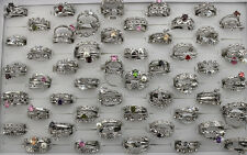 47pcs Women Lady's Jewelry Wholesale Mixed Lots 4 in 1 CZ Rhinestone Rings EH516