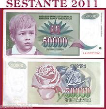 YUGOSLAVIA 50000  50.000  DINARA  1992   PREFIX AA   P 117   FDS / UNC PERFECT