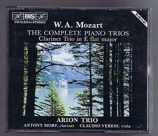 MOZART BOX SET 2 CDs COMPLETE PIANO TRIOS/ CLARINET TRIO/ ARION TRIO
