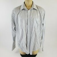Joseph & Feiss FITTED Non Iron Men's White Button Front Dress Shirt 18.5 34/35
