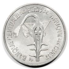 French West African States Federation Coinage Taku Ashanti Weight 100 Fr 1968 Bu