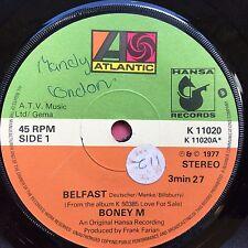 Boney M - Belfast / Plantation Boy - Atlantic K-11020 VG+ Condition A1/B1