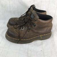 Doc Martens Brown Leather Ankle Boots Air Ware Made in England Men's 7