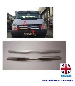 FORD TRANSIT MK7 CHROME FRONT VENT/ GRILL TRIM COVER S.STEEL 2pcs 2006-2013