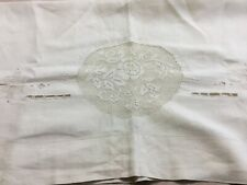 Vintage Hand Embroidered Pillow Sham Cover / Sham - 100� x 30�