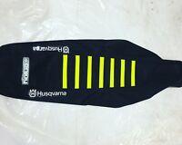 Black Ribs Enjoy MFG Ribbed Seat Cover for Yamaha YZ 85 All Black