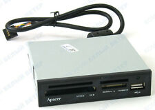 "Card Reader Apacer SD SDHC All in One 3.5"" USB Internal QUALITY metalic embedded"