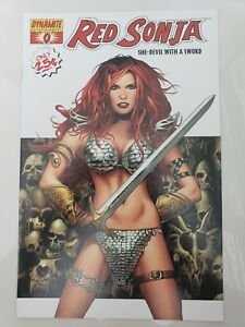 RED SONJA She-Devil With A Sword #0 (2005) DYNAMITE COMICS WHITE COVER 1ST PRINT