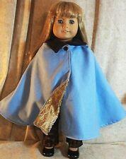 "Doll Clothes American Girl 18"" Cape Blue Flannel Gold Brocade fauxLando Star War"