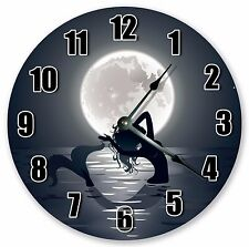 "10.5"" BEAUTIFUL MOON AND THE MERMAID CLOCK - Large 10.5"" Wall Clock - 3330"