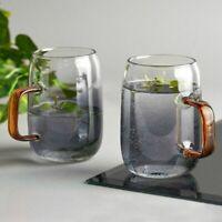 Mug Set  Coffee Glasses 300 ML Tea Coffee Cup Glass Water Cups Mug Black