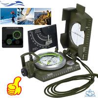 Professional Military Compass Pocket Metal Sighting Clinometer Hiking Camping