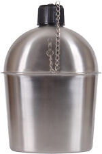 Stainless Steel Military Canteen 1.3 Qt Portable Water Bottle Camping Travel GI
