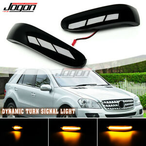 LED Dynamic Side Mirror Sequential Light For Benz ML GL Class W164 X164 05-08 R