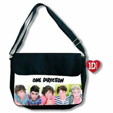 1D One Direction Early Days Head Shots Black Bag Red Heart Tag Satchel Official