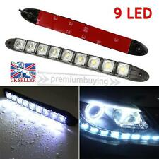 2X White 12V 9 LED Daytime Running Light DRL Car Fog Day Driving Lamp Lights