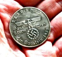 W.W.2 GERMAN COLLECTORS COIN  AHITLER 1 SCHILLING WIEN '32