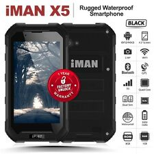 "Unlocked iMAN X5 Black 4.5"" Quad Core 3G IP67 5MP Dual SIM SOS Rugged Smartphone"