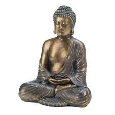 12-inch Speckled Bronze Sitting Buddha Statue