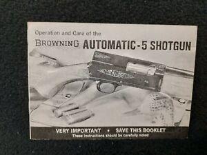BROWNING Belgium AUTOMATIC 5 SHOTGUN Manual  ORIGINAL FACTORY