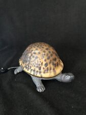 Bronze Metal & Glass Amber Tortoise Shell Nightlight Accent Light Works Turtle