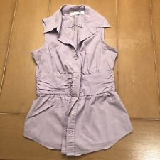 New York And Company Stretch Button Tank Top Extra Small